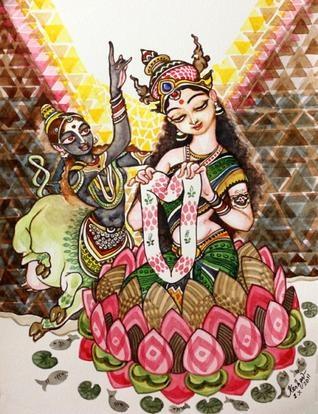 Painting for Mahalaya - the Kshirsagar Sisters. Artist: Keshav