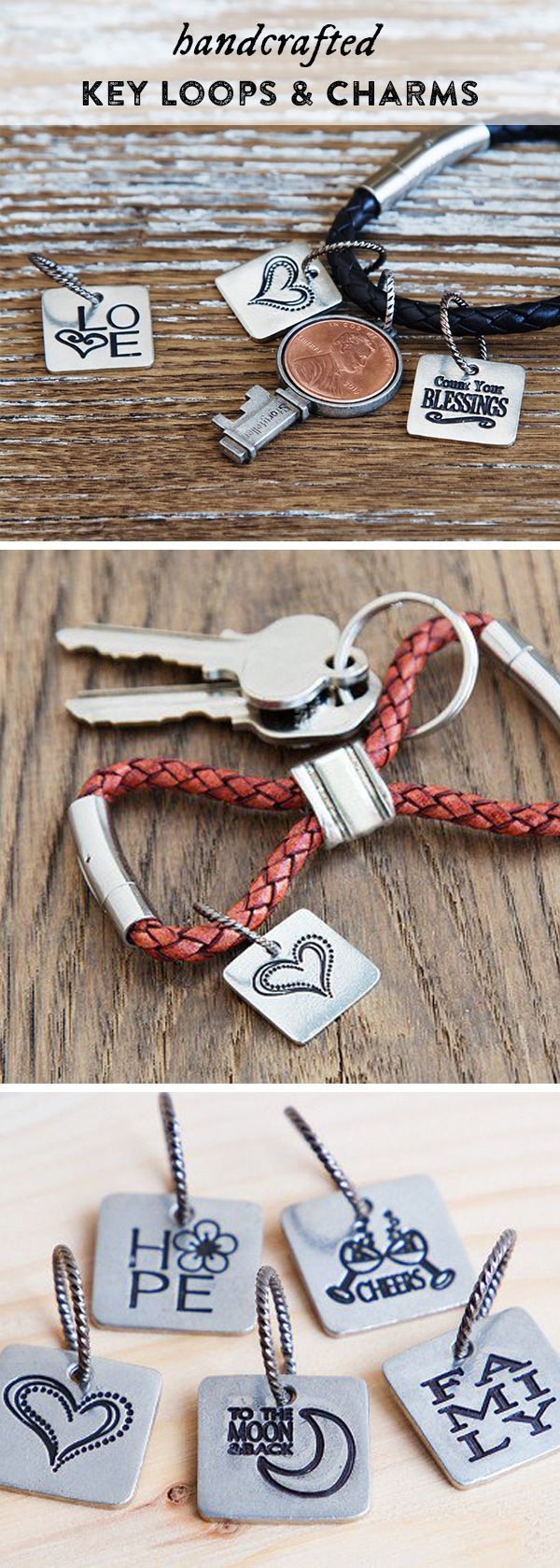 These inspirational charms for keychains, necklaces, or bracelets are meant to…