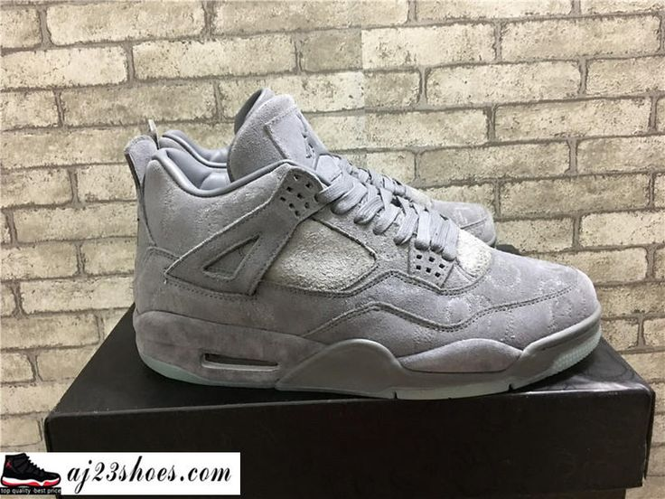 "ATHENTIC KAWS X Air Jordan 4 ""Cool Grey"" from aj23shoes.com Kik/"