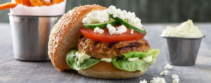 Turkey Burgers with Avocado Mayo   Woolwich Dairy