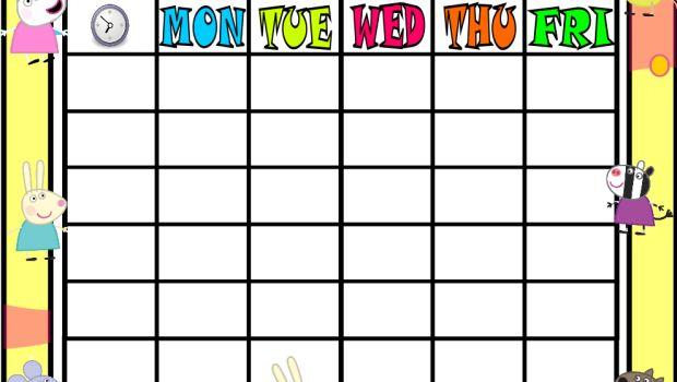 fun school timetable espacios y organizaci243n del aula