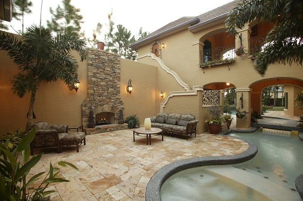 1000 images about house on pinterest house plans - Mexican style patio design ...