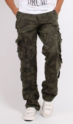 Fat | MEN'S Cotton Combat Pockets Utility Casual Cargo Pants Work Trousers Camouflage | eBay