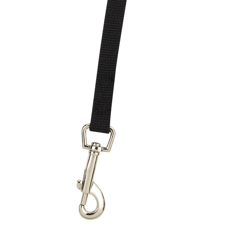 "Guardian Gear Cotton Web Dog Training Lead 20'x5/8"", Black"