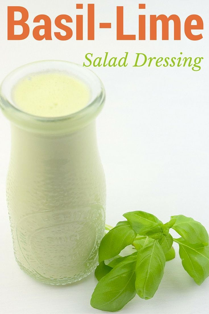 Tangy Creamy Basil Lime Salad Dressing    From Blenditup.com