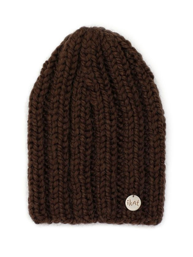 Chocolate Alpaca Beanie, hand knitted with love by IKAT Knitwear