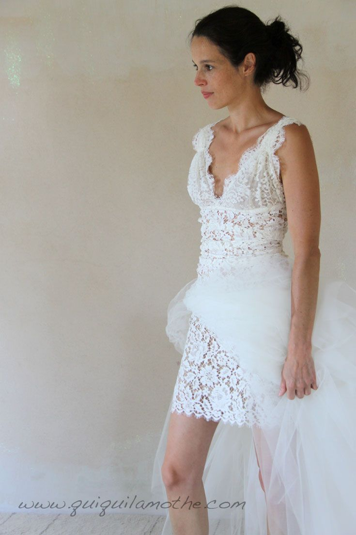 robe de mari e transformable simple jupe en tulle ajouter pour la soir e robes de mari es. Black Bedroom Furniture Sets. Home Design Ideas