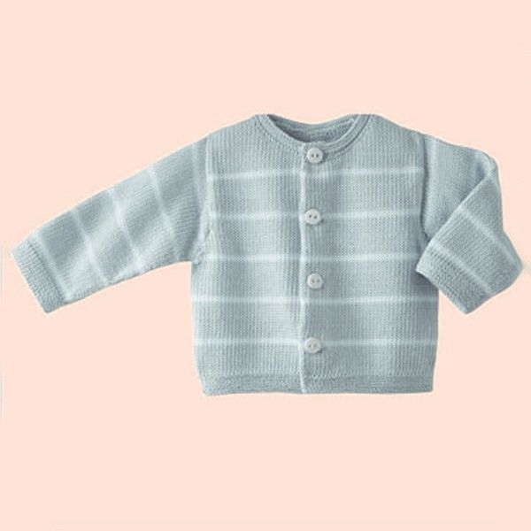 Knitting Pattern Phil Coton 3 Baby Cardigan! Knitting a Baby Cardigan - This sweet cardigan is ideal for your little one. Easy to wear and cute as a baby shower gift. The cardigan is made of Phildar Phil Coton 3, a 100% natural yarn, that has been popular for many years now.