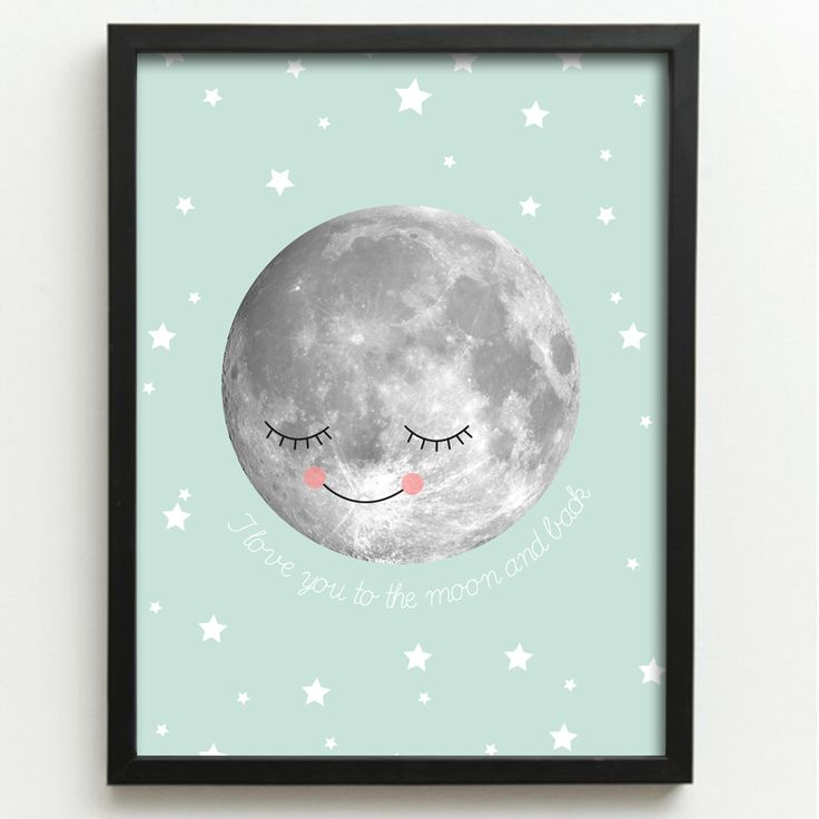 Printable poster I love you to the moon www.opdezoldervantantesofie.nl
