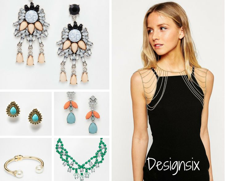 DESIGNSIX (Accessible): This affordable jewelry brand coming directly from London could be a good one to feature on Fy as it has many interesting pieces that can help any look stand out. The style is great for both women who love girly and pastel-coloured pieces like those beautiful earrings, as well as for those who go for statement pieces such as the edgy golden body chain, the golden bracelet and the green necklace.