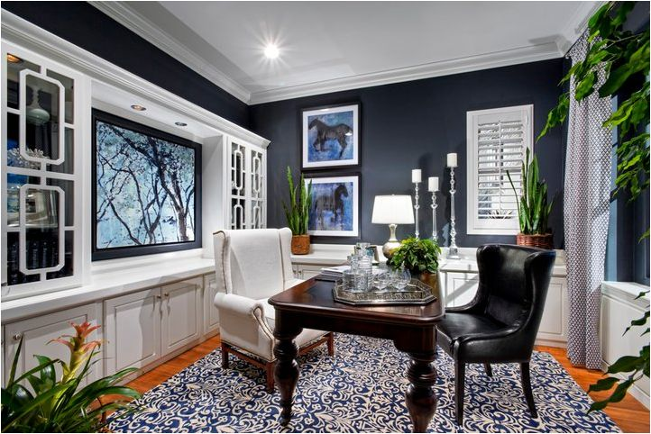 Navy Blue And White Kitchen Navy Walls With The