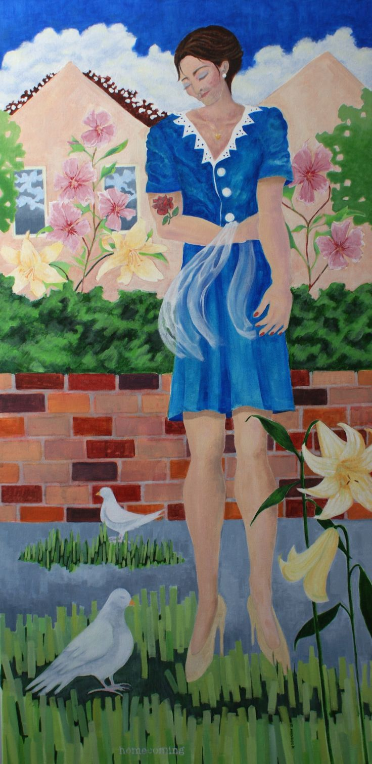 """""""Homecoming"""" Remembering 'The Danish Girl' Acrylic on canvas, 121cm x 61cm"""