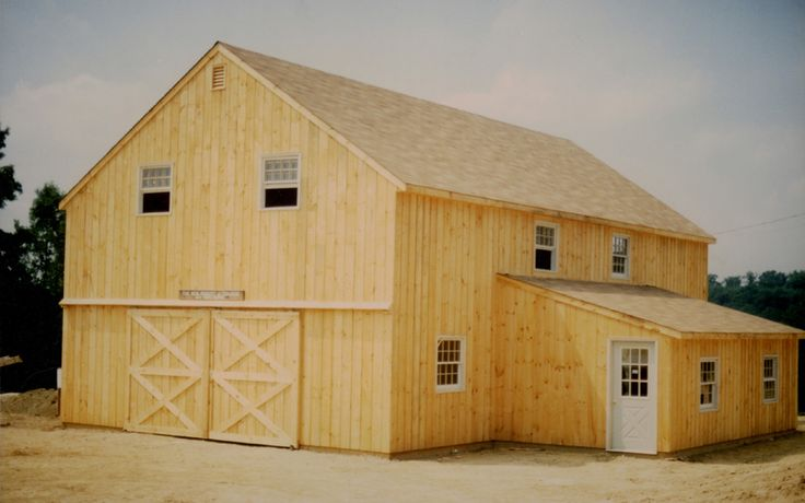 28 39 x 40 39 two story pole barn with 12 39 x 20 39 shed roof for Two story barn house plans