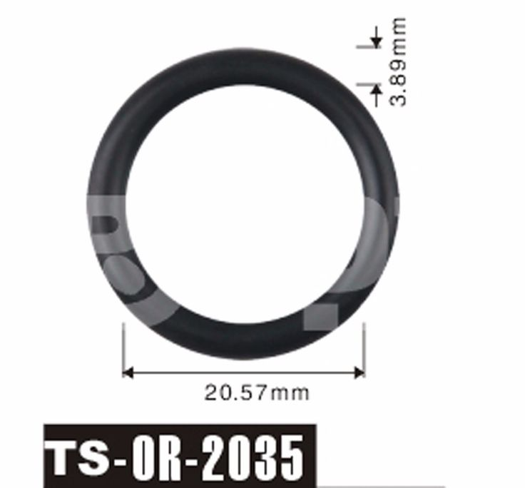 Free shipping Tenso 500pcs 20.57x3.89 mm fuel injector viton rubber O'Rings ORings O Rings O-Rings seals for car parts TS-2035