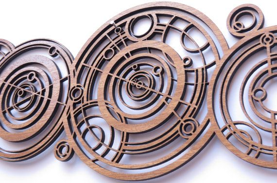Doctor Who wood name in Ancient Gallifreyan inpired by Woodentek
