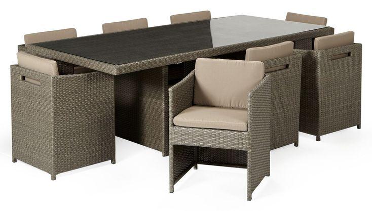 ensemble de table de jardin yvoire a l 39 ext rieur salon. Black Bedroom Furniture Sets. Home Design Ideas