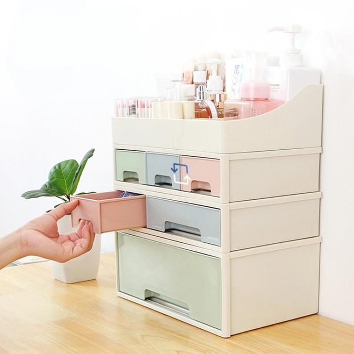 Cosmetic Drawer Makeup Organizer Storage Box
