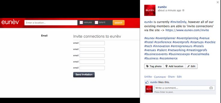 eunèv is currently #InviteOnly, however all of our existing members are able to 'invite connections' via the site -> https://www.eunev.com/invite    #eunev