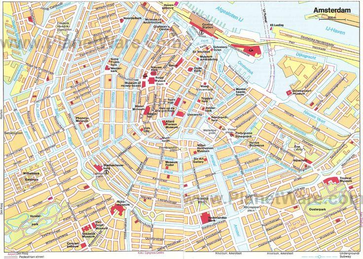 Best 25 Amsterdam Tourist Attractions Ideas On Pinterest: Amsterdam Map Europe At Slyspyder.com