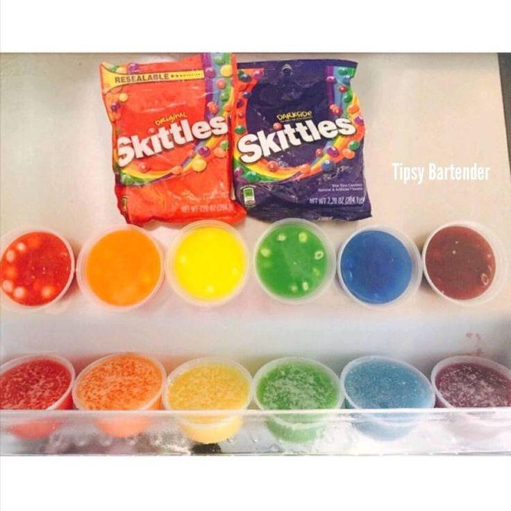 Rainbow Skittle Shots | Tipsy Bartender