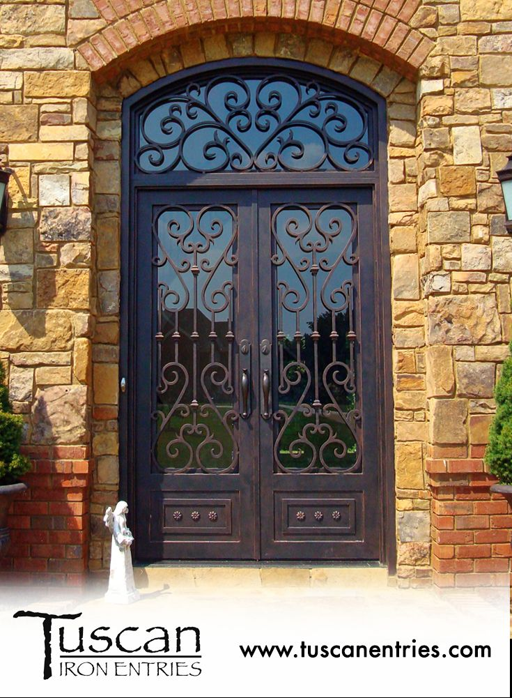 For the last 15 years Tuscan Iron Entries has been the leading custom wrought iron door provider. We offer premium entry front and side iron doors. & 14 best Custom Iron Doors from Tuscan images on Pinterest | Iron ...