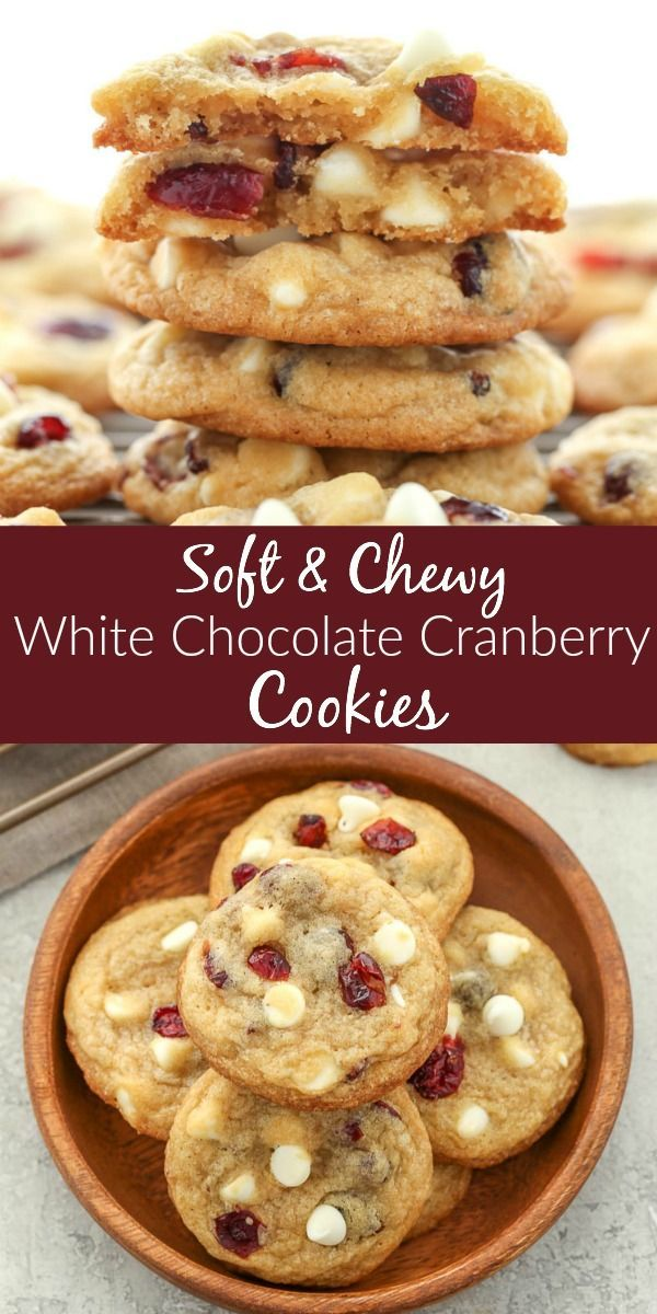 These White Chocolate Cranberry Cookies are incred…
