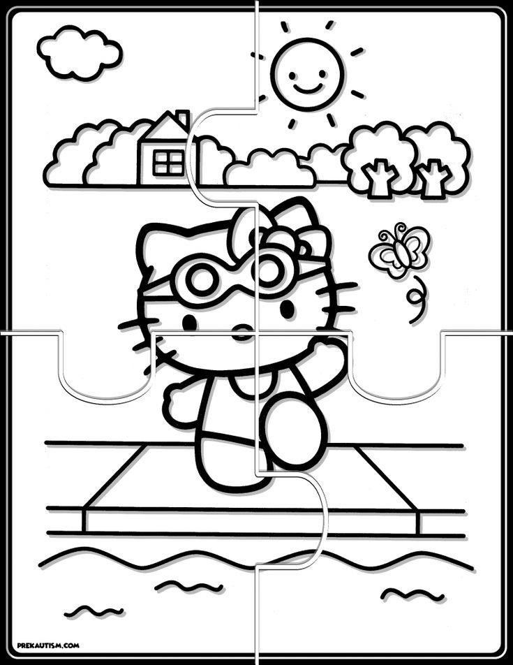 hello kitty coloring puzzle