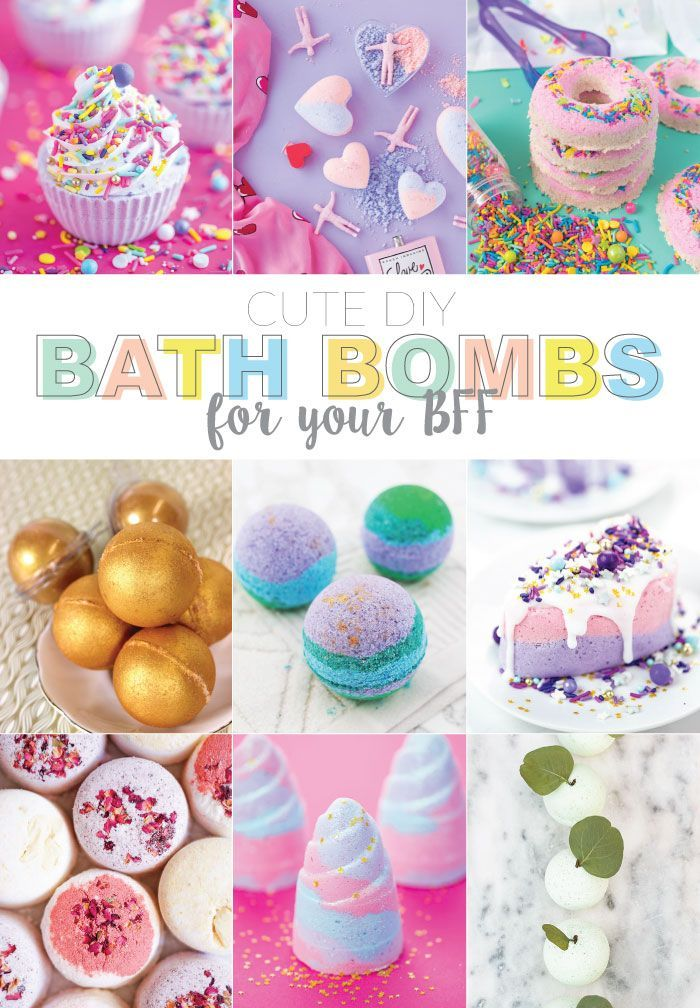 Cute Diy Bath Bombs To Share With Your Bff Bath Bombs Diy Diy