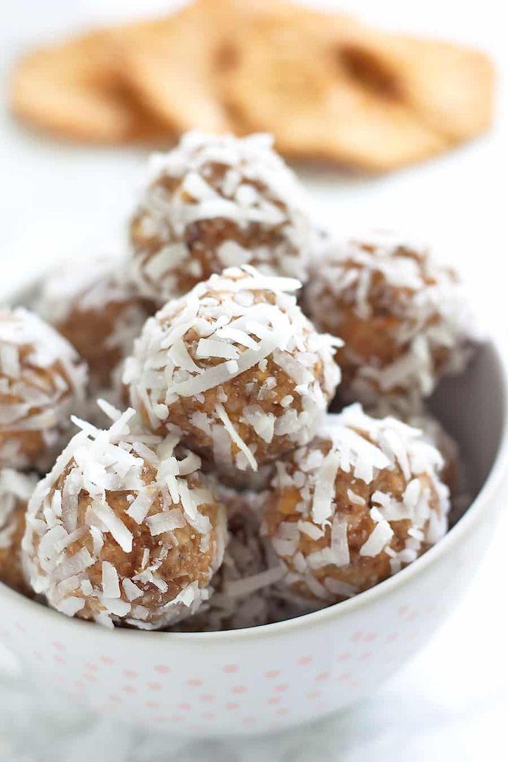 Pina Colada Energy Bites (Protein Balls!)