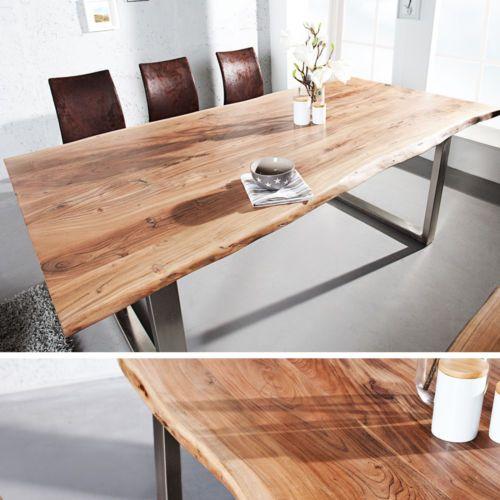 Details Zu Massiver Baumstamm Tisch MAMMUT Esstisch Tische Massivholz  Holztisch Akazie