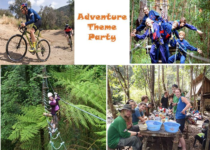 Adventure Party Theme : Go in the hilly area and plan some Adventure and enjoy your birthday party. #Birthdaypartytheme