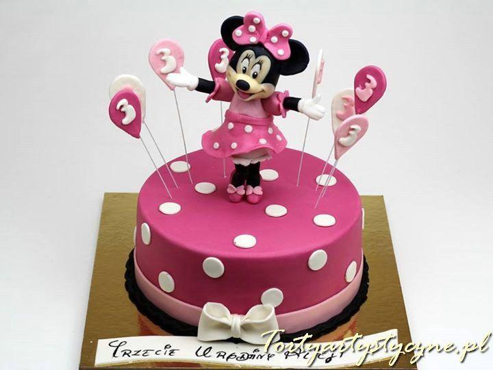 Tort dla dzieci z Myszką Minnie