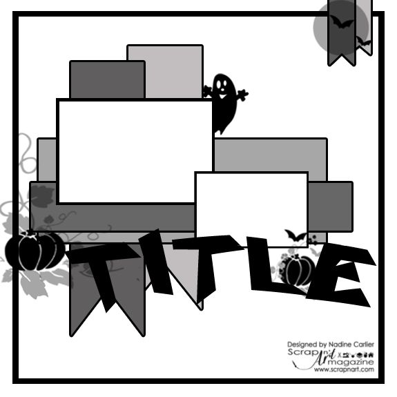 Scrapbook layout sketch by @scrappinready