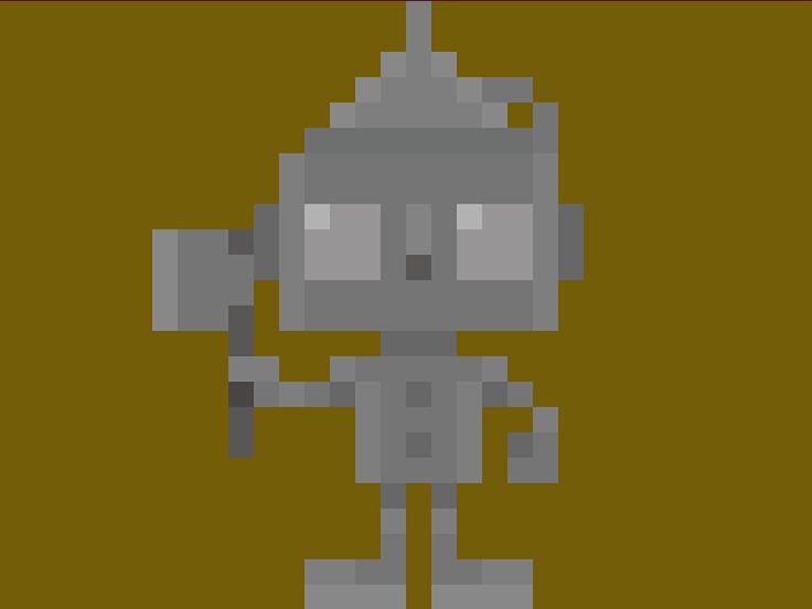 "Famous Characters in Pixel Art • Tin Woodman (Uomo di Latta) from ""The Wonderful Wizard of Oz"" L. Frank Baum #pixels #pixel #pixelart #tinwoodman #uomodilatta #oz #wizard #wizardofoz #ilmagodioz #magodioz #16bit #characters #baum #thewonderfulwizardofoz #theoluk"