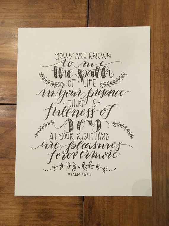 Custom hand lettered modern calligraphy quote or by