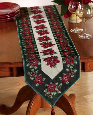 Holiday Tapestry Table Runner