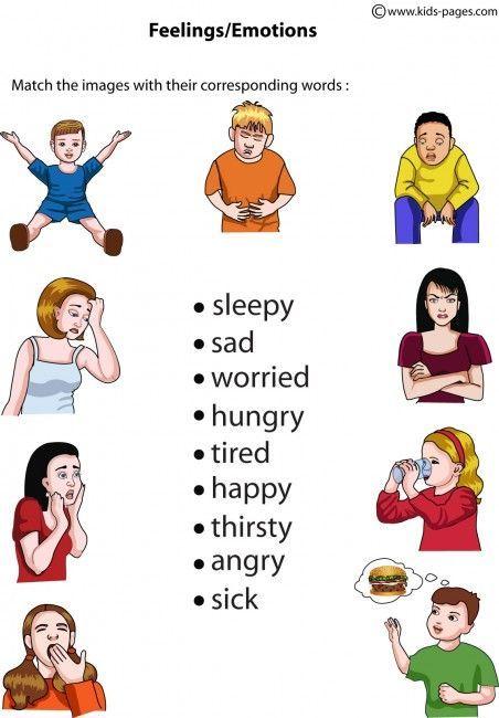 Feelings Matching 2 worksheets