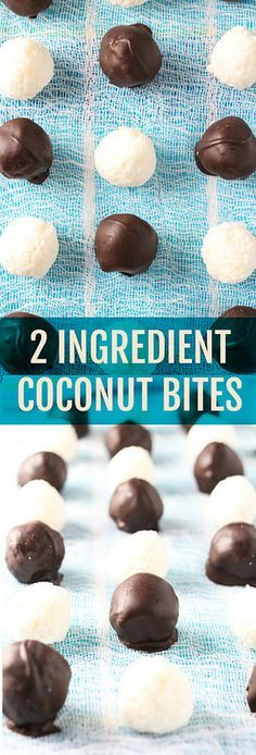 These Coconut Bites can be made with or without chocolate. You'll get a pure coconut snack or a nice dessert. Both are healthy and easy to make.