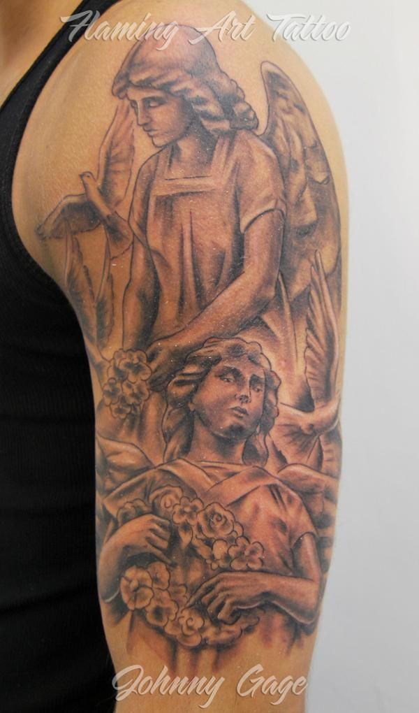 50 Holy Angel Tattoo Designs