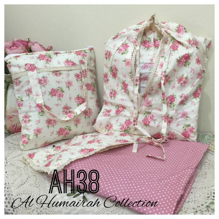 Al Humaira Telekung Cotton – AH38  RM150.00  – Telekung cotton with printed design  – Special vintage style design  – Japanese cotton material  – Face size up to L size  – Set includes beautiful handmade bag & mini sajaddah  – Limited pieces  http://www.telekung.co/product/ah38/
