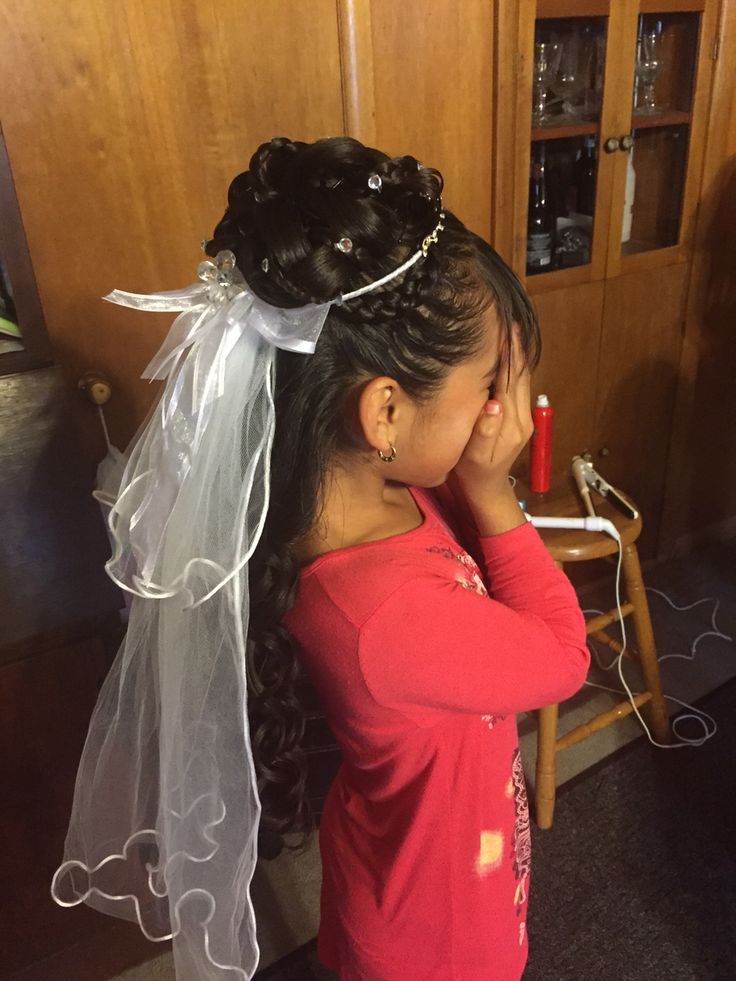 First Communion In 2019 Communion Hairstyles First