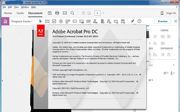 Adobe Acrobat Pro DC 2015 Screenshots