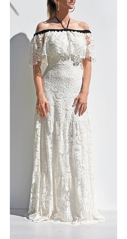 Design the perfect wedding, bridesmaid or special event dress at Sui Generis Style. Each dress is made to order and can be fully customized.  White Lace Off-shoulder Gown www.design-a-dress.com  #whitelace #weddingdress #bridesmaiddress #offshoulder