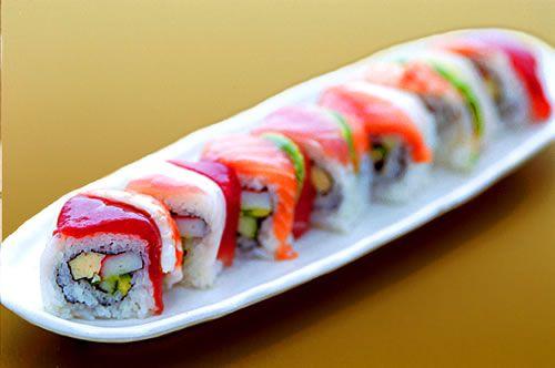 Rainbow RollRolls Sushi, Japanese Food, Asian Food, Ahi Sushi, Yummy Food, Food Nom, Rainbows Rolls, Favorite Food, Food Drinks