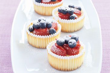 Mini baked cheesecakes