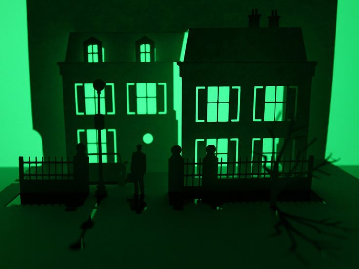 Famous Haunted Houses Created From a Single Sheet of Paper by Marc Hagan-Guirey