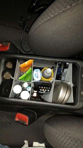 Diy Car Center Console Organizer Using Plastic Canvas