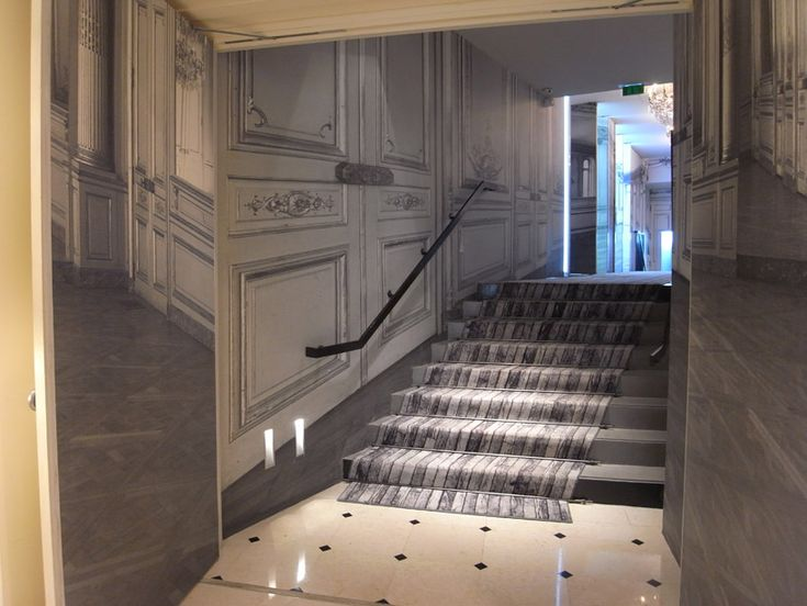 the renovation of parisian hotel 'la maison champs-elysées', was a collaboration between  french fashion house maison martin margiela and toulouse-based architect danièle darmon.: Champs Elyse, Champs Élysé, Parisians Hotels, Champs Elysées Paris, Champs Elys Paris, Carpets, Maison Champs Elysé, Houses Maison, Champs Elysé Paris