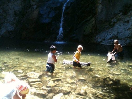 5 Swimming Spots (near L.A.) 1. Rock Pool at Malibu Creek State Park-  3.5 mile round trip hike to a sparkling rock pool 2. Eaton Canyon Falls- 1.5 mile hike to 50 foot waterfall 3. Switzer Falls/Bear Canyon- hike peppered with swimming holes. Wade in Arroyo Seco Creek, or a mile downstream near waterfalls & wildflowers. 4. Sturtevant Falls trail- a flat, shady 3.7 mile trail to a 50 foot waterfall & shallow pool 5. Hansen Dam Aquatic Center- massive swim lake & 2 huge water slides