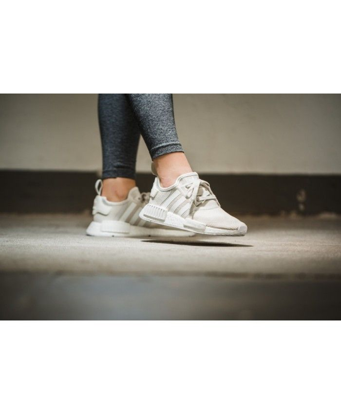 sports shoes 4328f 9e5e6 Adidas NMD R1 Womens Sand Beige Cream Shoe